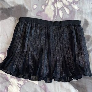 DKNY, black metallic skirt